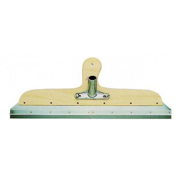 PAJARITO Uitvlakstrijker 56cm houten houder met RVS klemlijsten voor 2 verwisselbare bladen, breedte 56 cm. Type 41770
